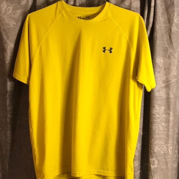 a3089af8 Under Armour Shirts | Mens T Shirt Large Yellow Spandex | Poshmark
